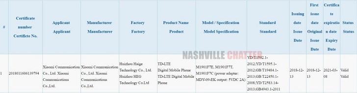 Xiaomi Redmi 7, Redmi 7 Pro и Redmi 7A прошли сертификацию в 3C