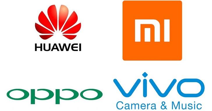 Huawei, Vivo, Oppo и Xiaomi продали 80% смартфонов в Китае