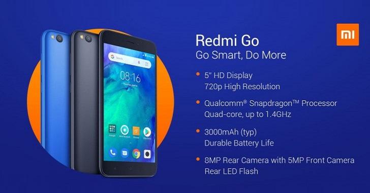 Бюджетный смартфон Xiaomi Redmi Go представлен официально