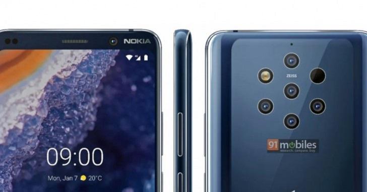 Nokia 9 PureView предстал во всей красе на официальном рендере