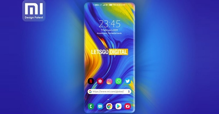 Xiaomi запатентовала экран с изогнутыми с четырех сторон гранями