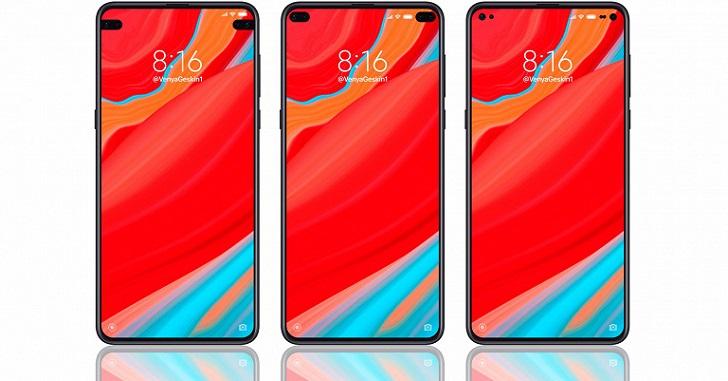 В сеть слили рендеры смартфона Xiaomi с двумя вырезами