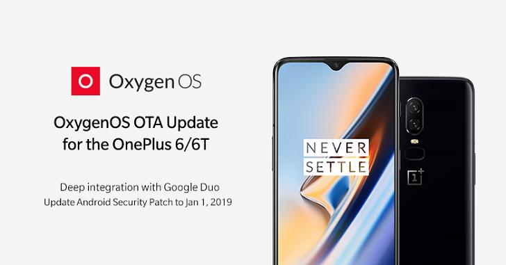 OnePlus 6 и OnePlus 6T получили новую версию ПО OxygenOS