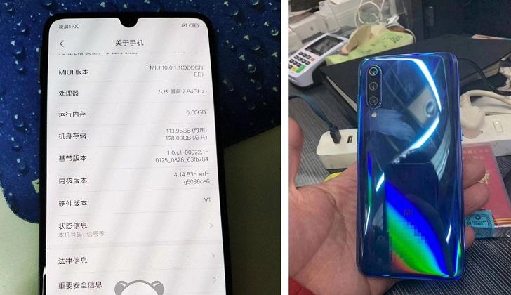 Xiaomi Mi 9 показался на реальных фотографиях