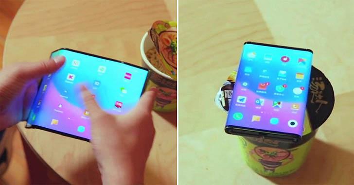 Складной смартфон Xiaomi показали на новом видео