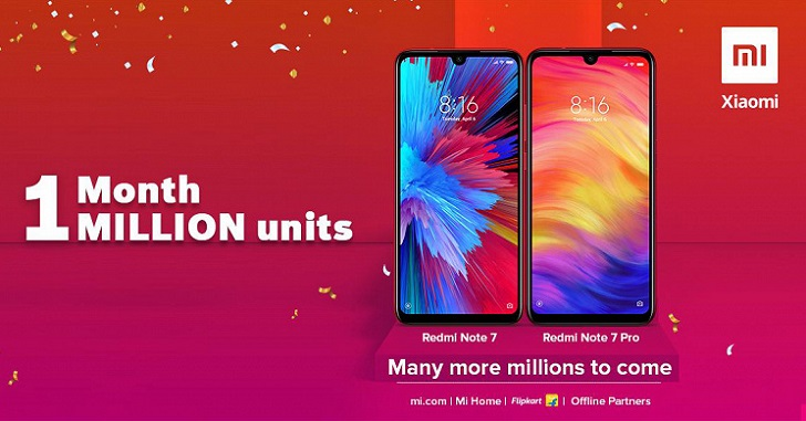 Продажи Xiaomi Redmi Note 7 и Redmi Note 7 Pro превысили 4 млн устройств