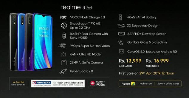 Официально представлен смартфон Realme 3 Pro