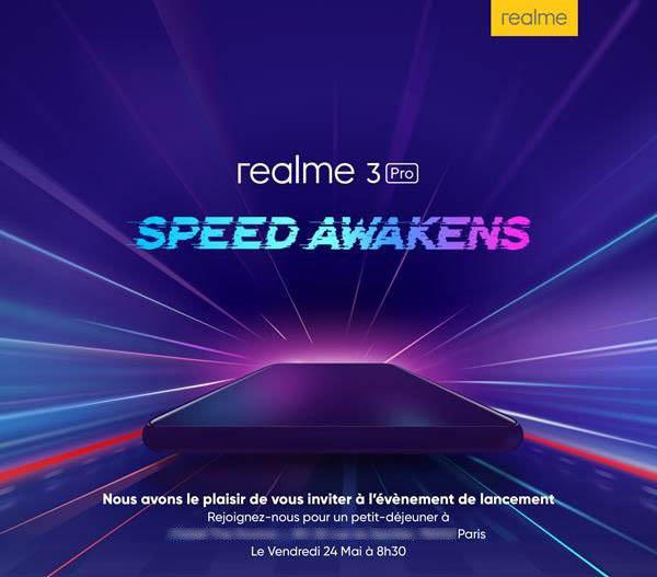 Анонс смартфона Realme 3 Pro в Европе состоится 24 мая