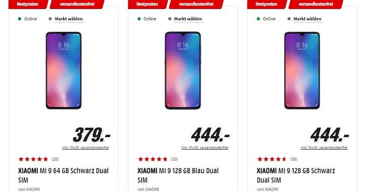 Xiaomi Mi 9 подешевел в Украине, Китае и странах ЕС
