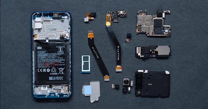 Xiaomi Mi A3 разобрали на части
