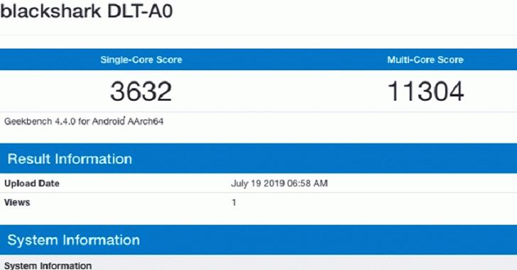 Black Shark 2 Pro уступил Xiaomi Mi 9 в Geekbench