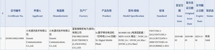 Смартфон Xiaomi Mi Mix 4 прошел сертификацию в 3C