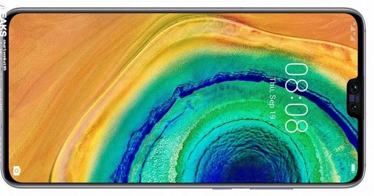 Huawei Mate 30 показался на официальном рендере