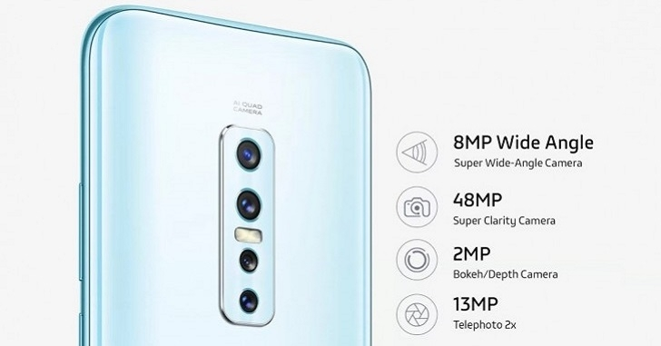 Анонсирован смартфон vivo V17 Pro с шестью камерами за 420 долларов