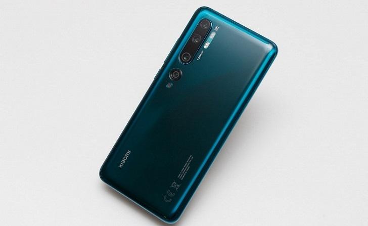 Xiaomi Mi Note 10 упал в цене примерно на 10%