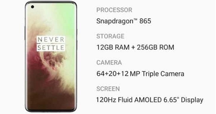 Известны характеристики OnePlus 8 Pro 5G