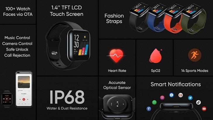 Анонсированы смарт-часы Realme Watch за 50 долларов