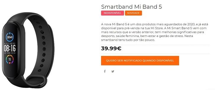 Стала известна дата выхода европейской версии Xiaomi Mi Band 5