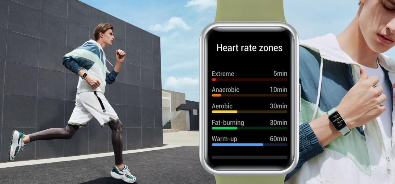 Huawei анонсирует начало продаж фитнес-часов Huawei Watch Fitв Украине