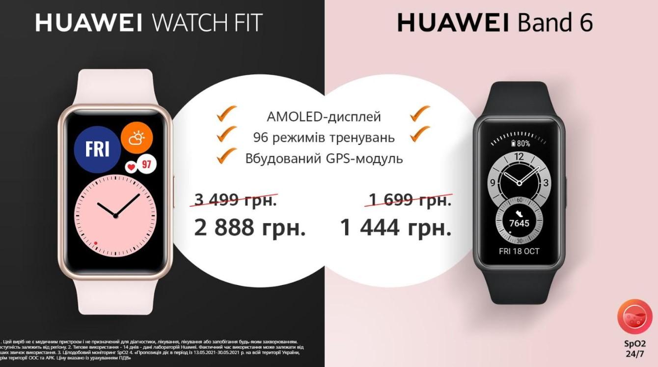 Смарт-часы Huawei Band 6 уже в Украине по цене Xiaomi mi band