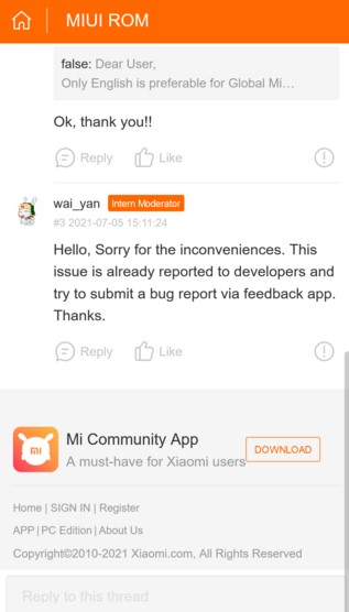MIUI 12.5 на Android 11 «отключает» скриншот тремя пальцами
